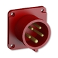 Prívodka priemyselná IP 44, vstavaná, IP 44, 32 A - bezskrutkové svorky