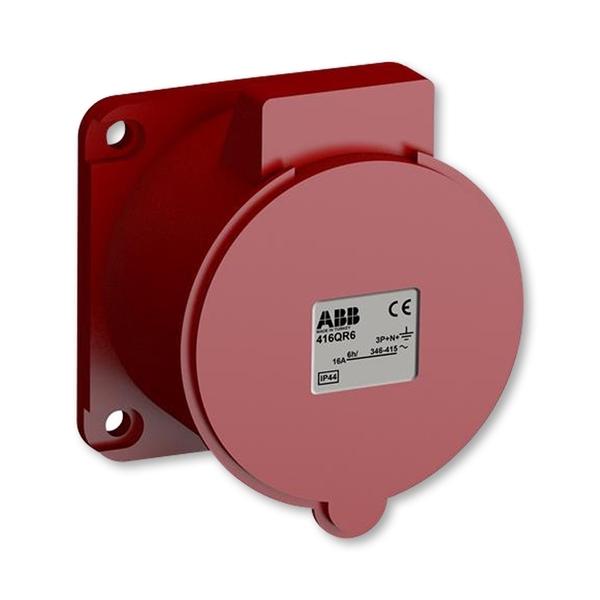 Zásuvka priemyselná IP 44, vstavaná priama, IP 44, 16 A - bezskrutkové svorky