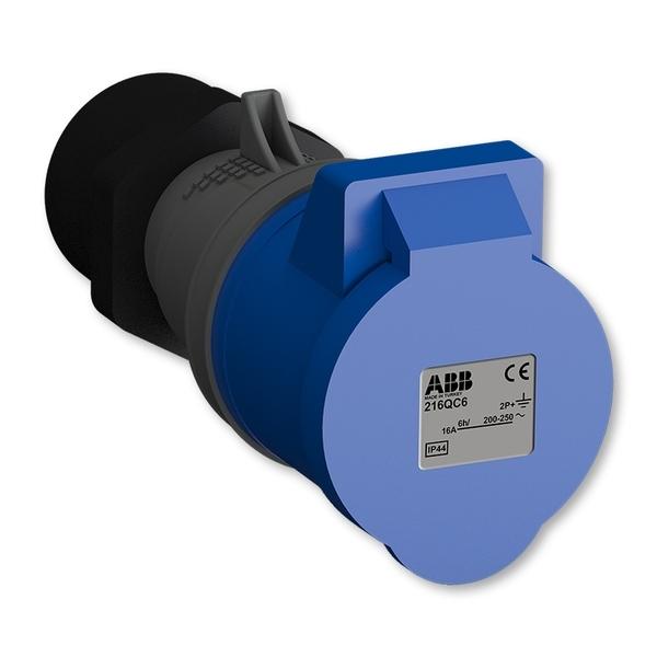 Zásuvka priemyselná IP 44, spojovacia, IP 44, 16 A - bezskrutkové svorky