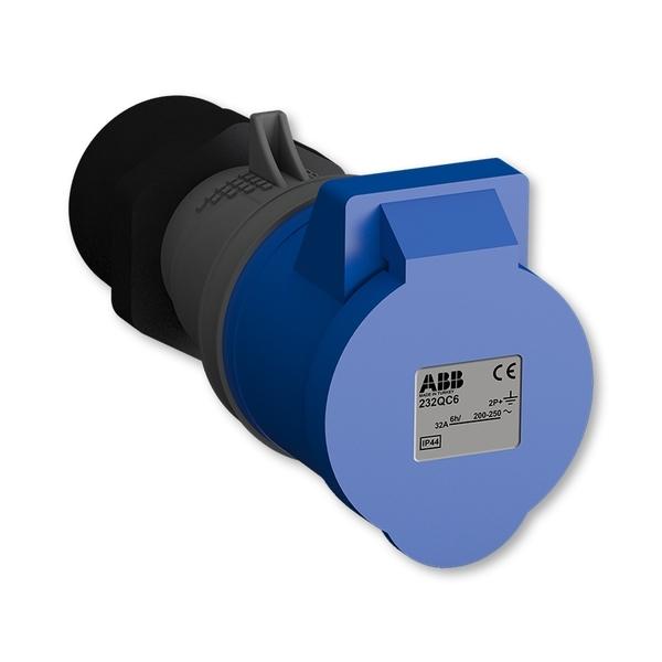 Zásuvka priemyselná IP 44, spojovacia, IP 44, 32 A - bezskrutkové svorky