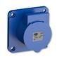 Zásuvka priemyselná IP 44, vstavaná priama, IP 44, 32 A - bezskrutkové svorky