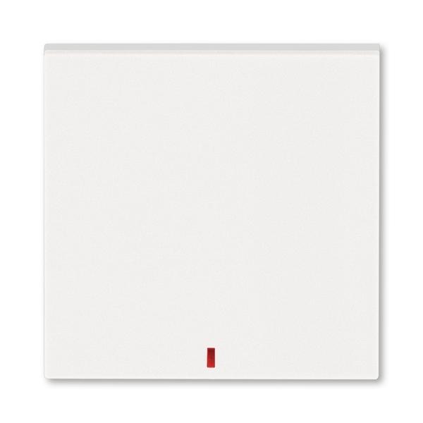 Kryt spínača kolískového s červeným priezorom, perleťová / ľadová biela