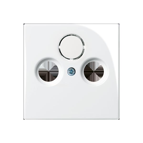 Kryt zásuvky televíznej, rozhlasovej a satelitnej, TV+R+SAT, biela