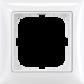 Rámček pre elektroinštalačné prístroje jednonásobný, biela