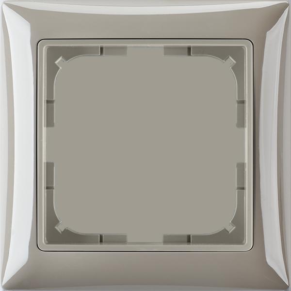 Rámček pre elektroinštalačné prístroje jednonásobný, mokka