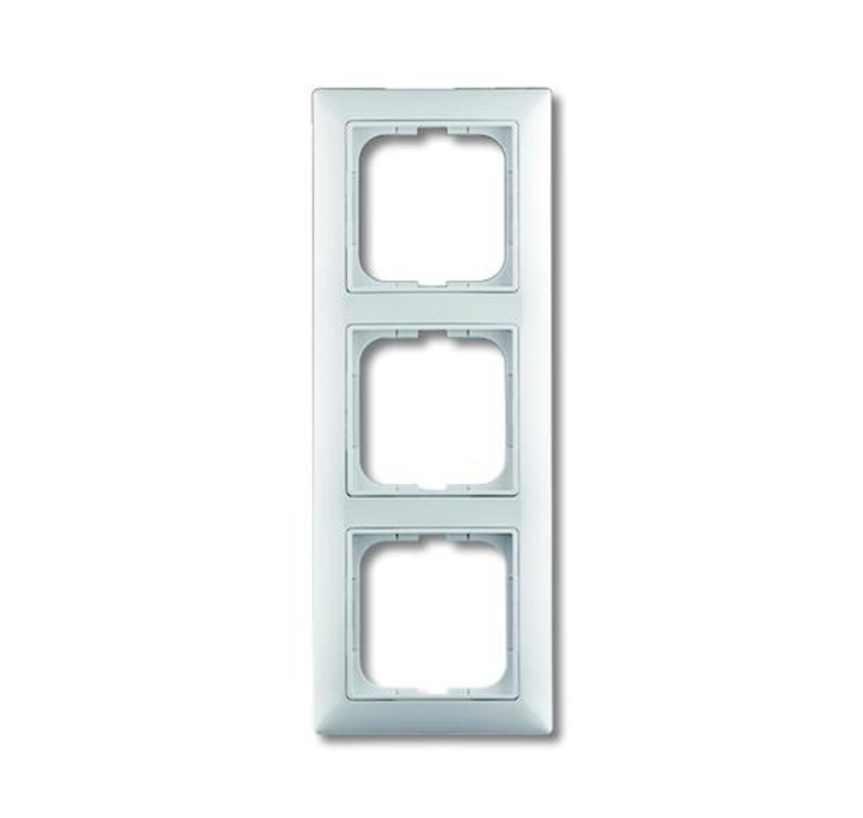 Rámček pre elektroinštalačné prístroje trojnásobný, biela