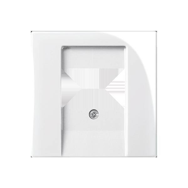 Kryt zásuvky reproduktorovej, komunikačnej priamej alebo prístroja nabíjacieho USB, biela