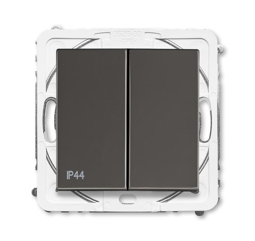 Prepínač sériový 5, IP44, grafitová šedá