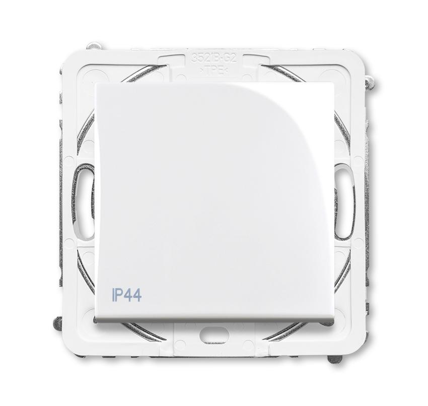 Prepínač krížový 7, IP44, biela
