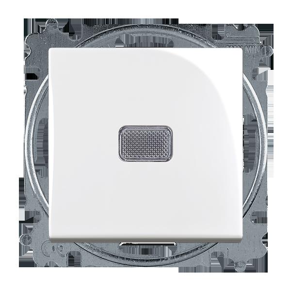 Prepínač striedavý 6S, 6So, s krytom, so svorkou N, s priezorom, biela