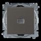 Prepínač striedavý 6S, 6So, s krytom, so svorkou N, s priezorom, grafitová šedá