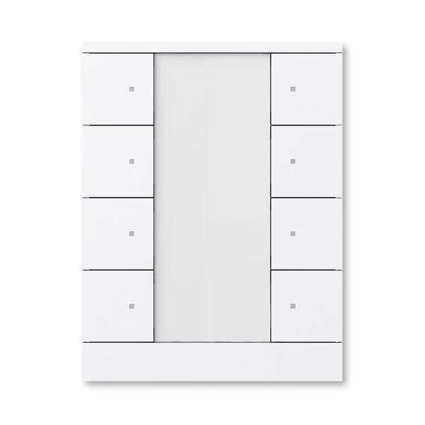 Prvok ovládací 8-násobný, ABB-Tenton®, zapustený, 8násobný / štúdiová biela