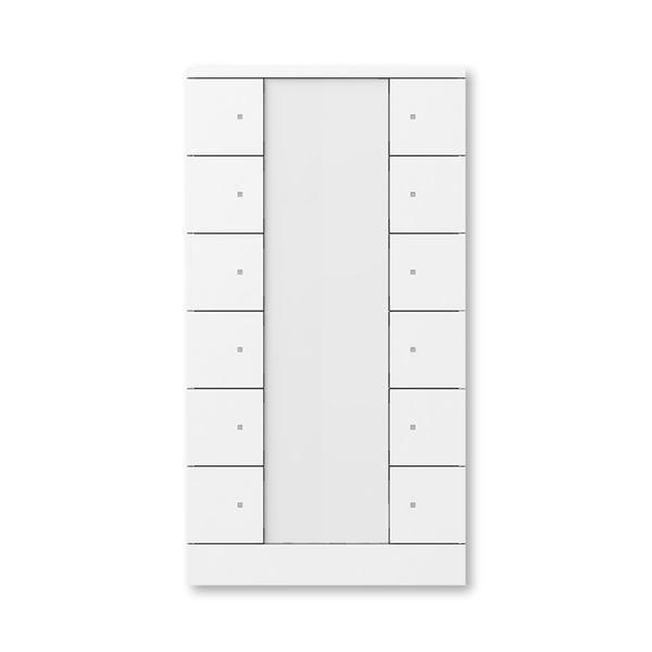 Prvok ovládací 12-násobný, ABB-Tenton®, zapustený, 12násobný / štúdiová biela