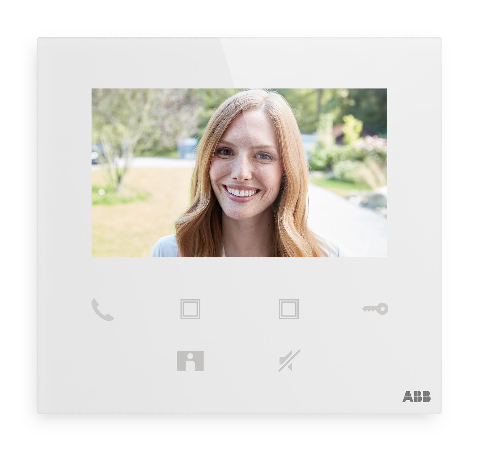 "Videotelefón domový 4,3"" Wi-Fi, hands-free, biela"