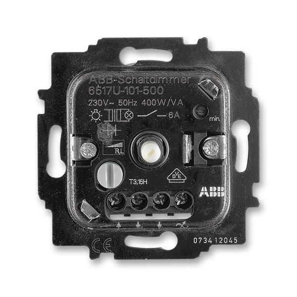 Prístroj stmievača pre otočné ovládanie a spínanie z minimálnej hodnoty jasu, s nezávislým tlačidlovým prepínačom,