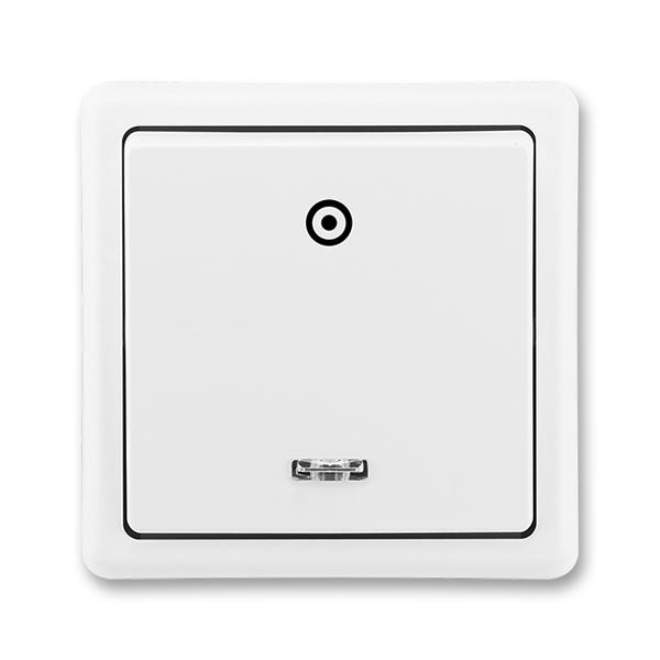 Ovládač zapínací so signalizačnou tlejivkou, Classic, biela