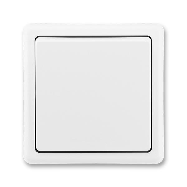 Spínač jednopólový, Classic, biela