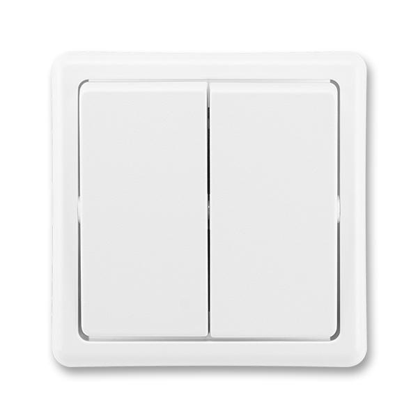 Prepínač striedavý dvojitý, Classic, biela