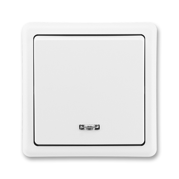 Prepínač striedavý s orientačnou tlejivkou, Classic, biela