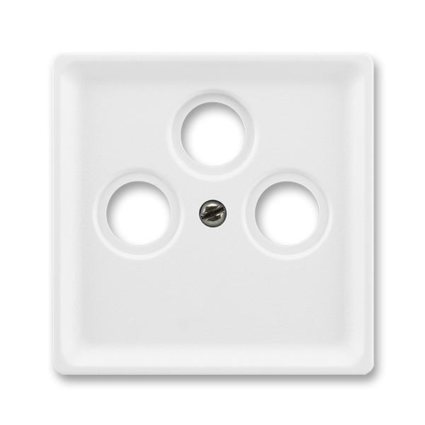 Kryt zásuvky anténnej s 3 otvormi, Classic, biela