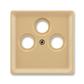 Kryt zásuvky anténnej s 3 otvormi, Classic, béžová