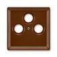 Kryt zásuvky anténnej s 3 otvormi, Classic, hnedá