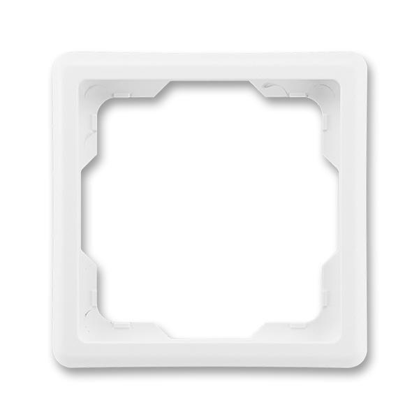 Rámček pre elektroinstalačné prístroje, jedno násobný, Classic, biela