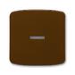 Kryt spínača kolískového s čírym priezorom, Tango®, hnedá