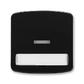 Kryt spínača kolískového s čírym priezorom a popisovým poľom, Tango®, čierna
