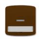 Kryt spínača kolískového s čírym priezorom a popisovým poľom, Tango®, hnedá