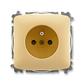 Zásuvka jednonásobná s ochranným kolíkom, s clonkami, Tango®, béžová
