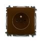 Zásuvka jednonásobná s ochranným kolíkom, s clonkami, Tango®, hnedá