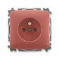 Zásuvka jednonásobná s ochranným kolíkom, s clonkami, Tango®, vresová červená