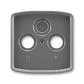 Kryt zásuvky anténnej, s vylamovacím otvorom, Tango®, dymová šedá