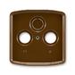 Kryt zásuvky anténnej, s vylamovacím otvorom, Tango®, hnedá