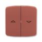 Kryt spínača žalúziového kolískového delený, s potlačou, Tango®, vresová červená