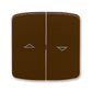 Kryt spínača žalúziového kolískového delený, s potlačou, Tango®, hnedá