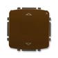 Spínač žalúziový s krátkocestným ovládačom, s prijímačom rádiofrekvenčného (RF) signálu, Tango®, hnedá