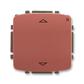 Spínač žalúziový s krátkocestným ovládačom, s prijímačom rádiofrekvenčného (RF) signálu, Tango®, vresová červená