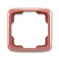 Rámček pre elektroinstalačné prístroje, jedno násobný, Tango®, vresová červená