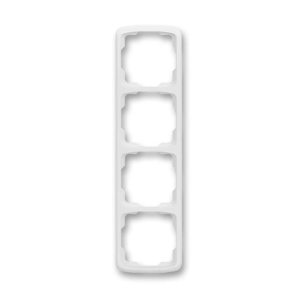 Rámček pre elektroinštalačné prístroje, štvor násobný zvislý, Tango®, biela