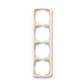 Rámček pre elektroinštalačné prístroje, štvor násobný zvislý, Tango®, slonová kosť