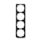 Rámček pre elektroinštalačné prístroje, štvor násobný zvislý, Tango®, čierna