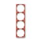 Rámček pre elektroinštalačné prístroje, štvor násobný zvislý, Tango®, vresová červená