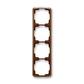 Rámček pre elektroinštalačné prístroje, štvor násobný zvislý, Tango®, hnedá