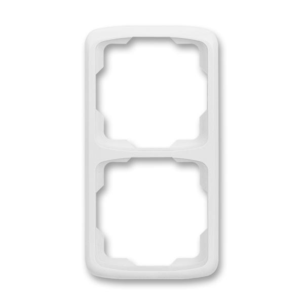 Rámček pre elektroinštalačné prístroje, dvoj násobný zvislý, Tango®, biela