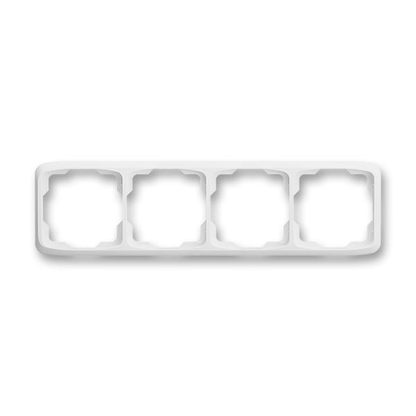 Rámček pre elektroinštalačné prístroje, štvor násobný vodorovný, Tango®, biela