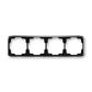 Rámček pre elektroinštalačné prístroje, štvor násobný vodorovný, Tango®, čierna