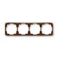 Rámček pre elektroinštalačné prístroje, štvor násobný vodorovný, Tango®, hnedá
