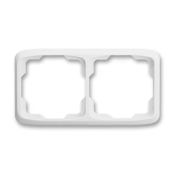 Rámček pre elektroinštalačné prístroje, dvoj násobný vodorovný, Tango®, biela